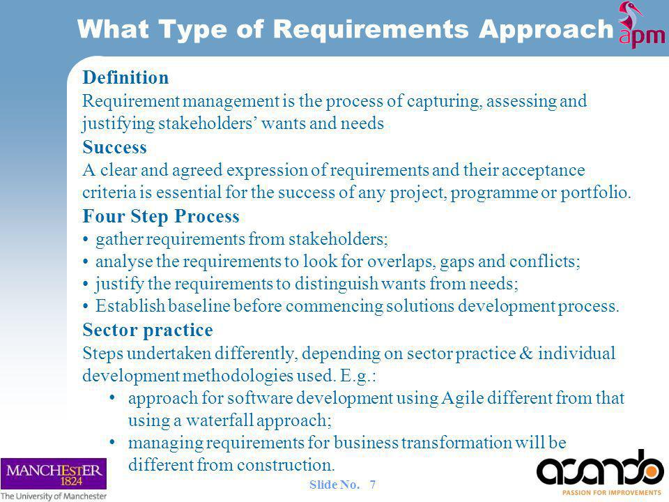 What Type of Requirements Approach