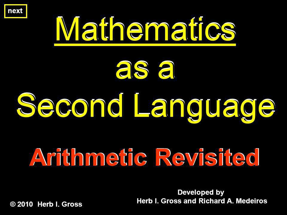Mathematics as a Second Language