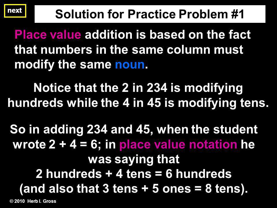 Solution for Practice Problem #1