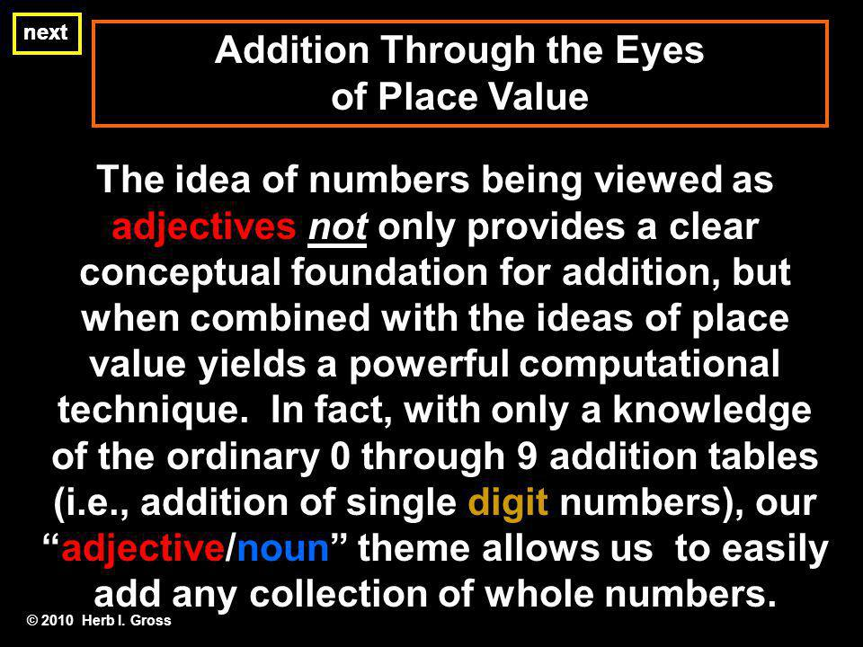 Addition Through the Eyes