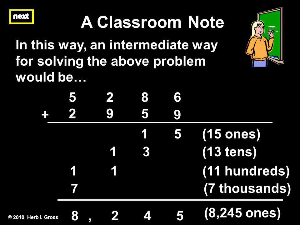 A Classroom Note next. next. next. In this way, an intermediate way for solving the above problem would be…