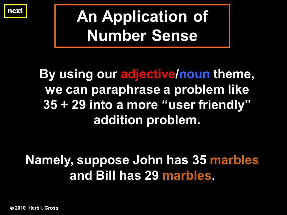 An Application of Number Sense