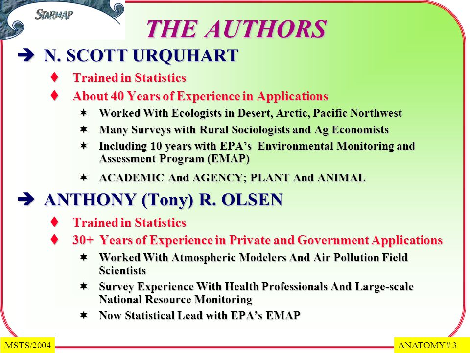 THE AUTHORS N. SCOTT URQUHART ANTHONY (Tony) R. OLSEN