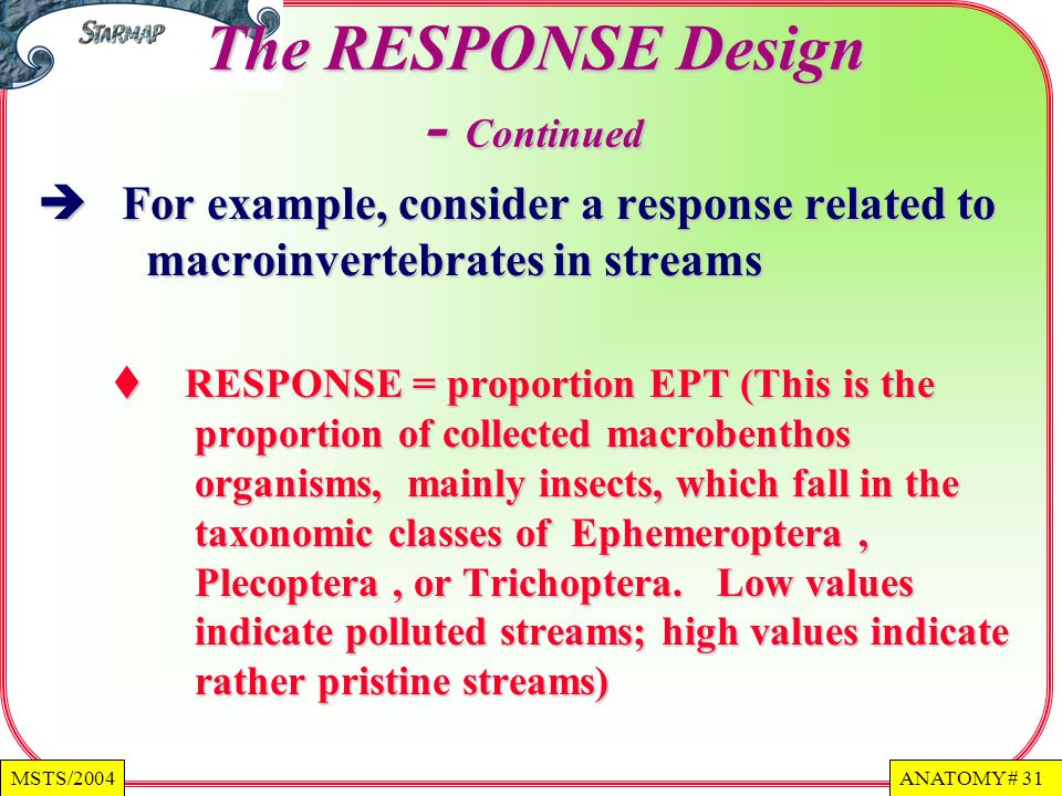 The RESPONSE Design - Continued