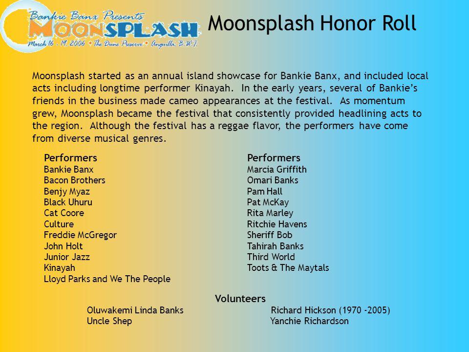 Moonsplash Honor Roll