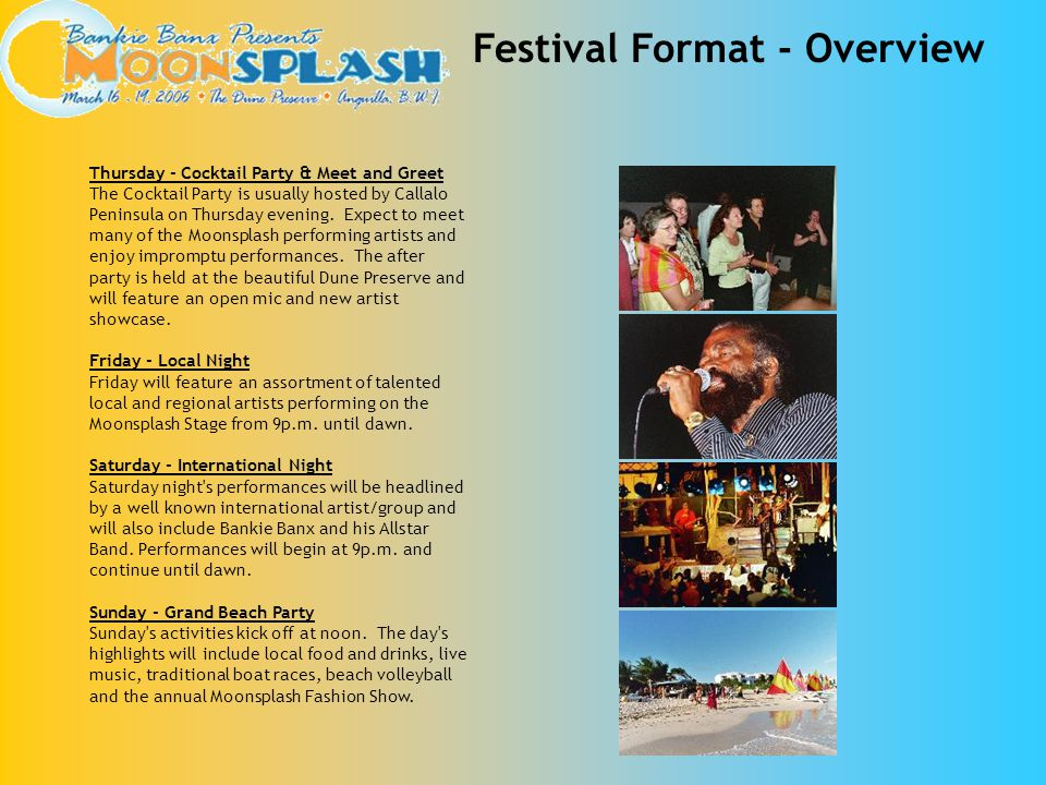 Festival Format - Overview