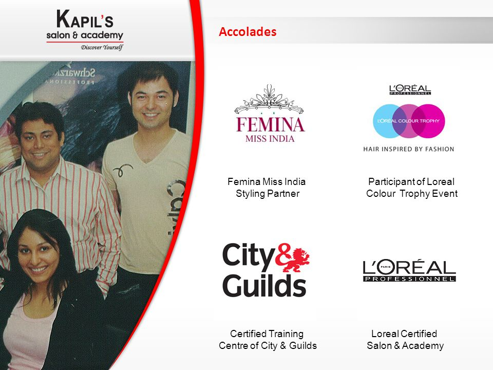 Accolades Femina Miss India Styling Partner Participant of Loreal