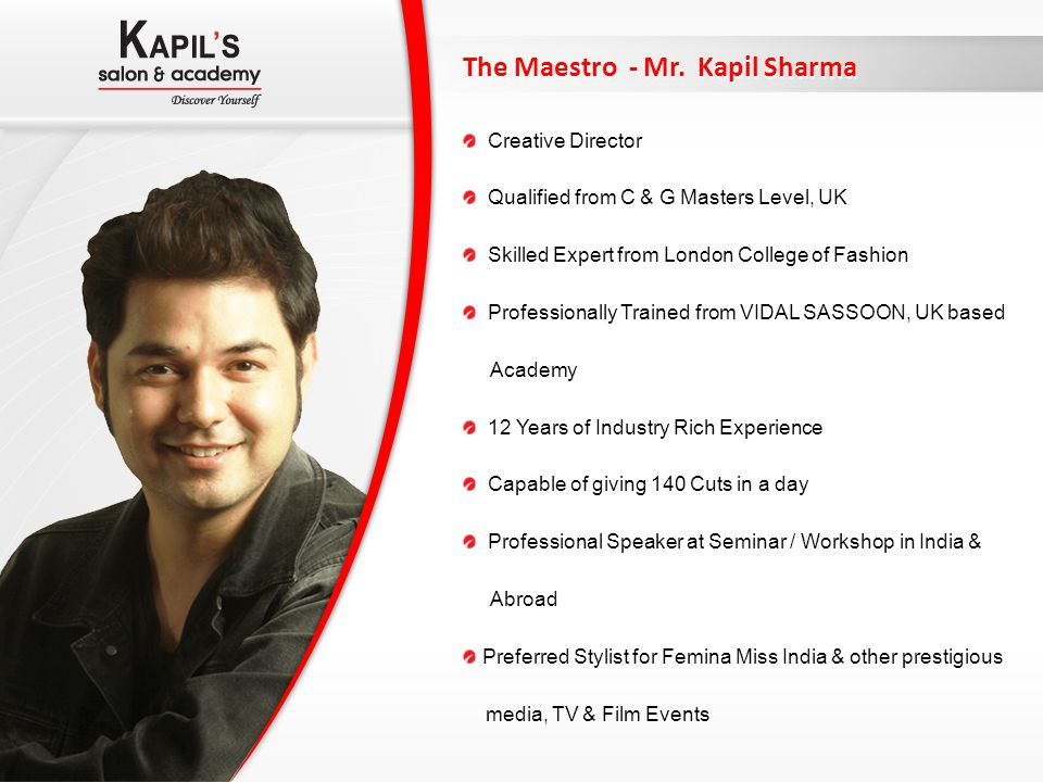 The Maestro - Mr. Kapil Sharma