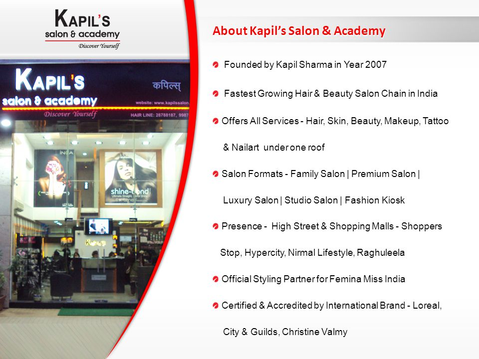 About Kapil's Salon & Academy