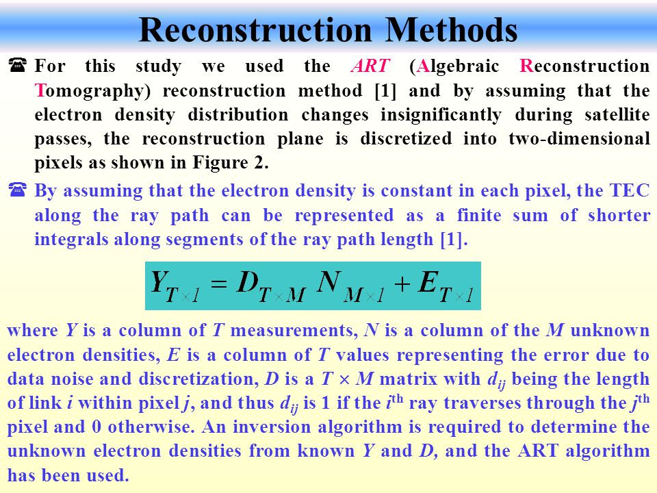 Reconstruction Methods