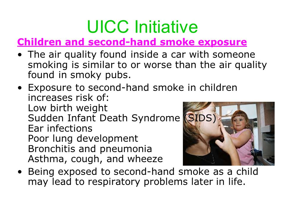 UICC Initiative Children and second-hand smoke exposure