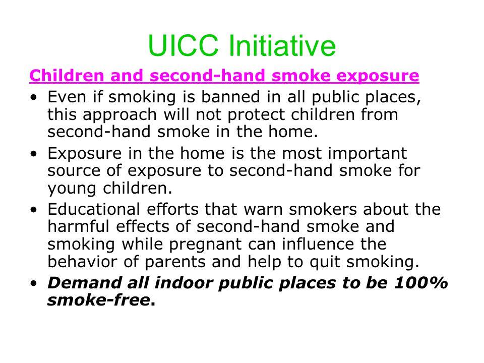 UICC Initiative Children and second-hand smoke exposure