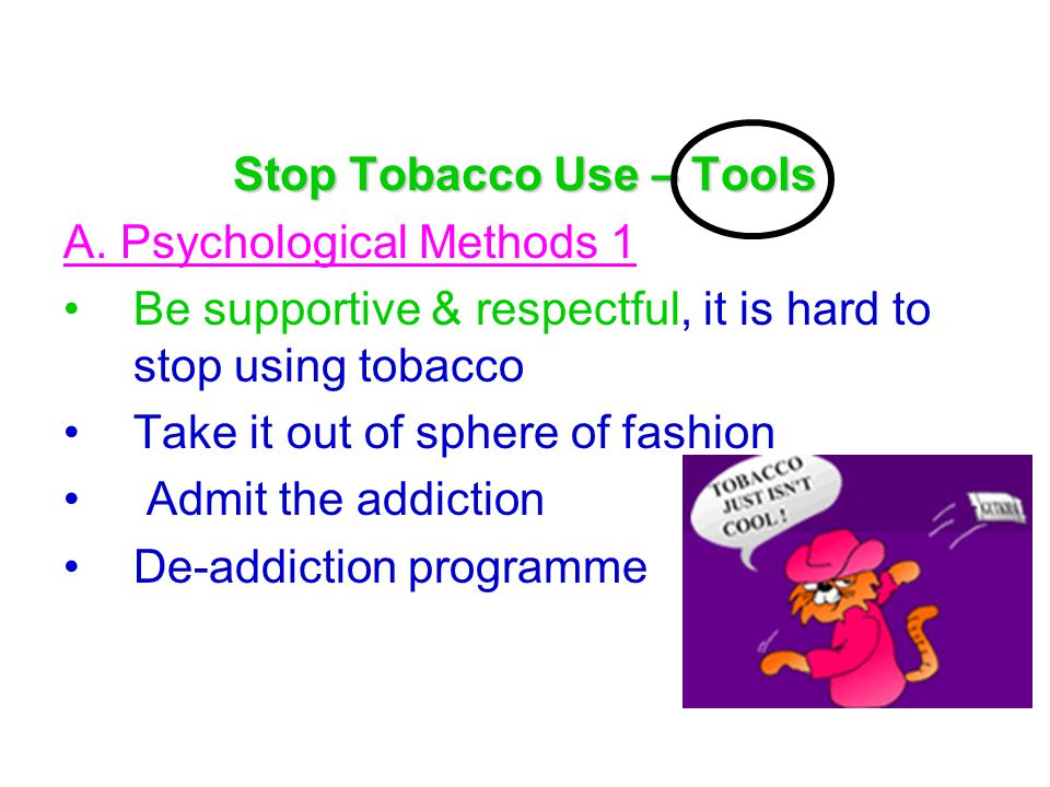 Stop Tobacco Use – Tools