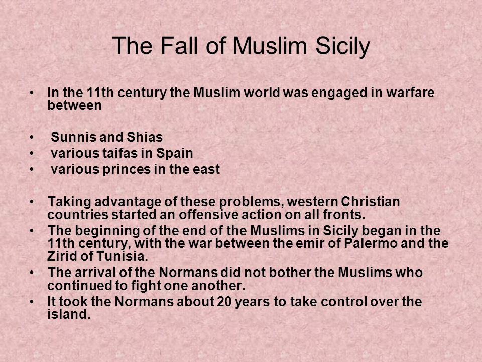The Fall of Muslim Sicily