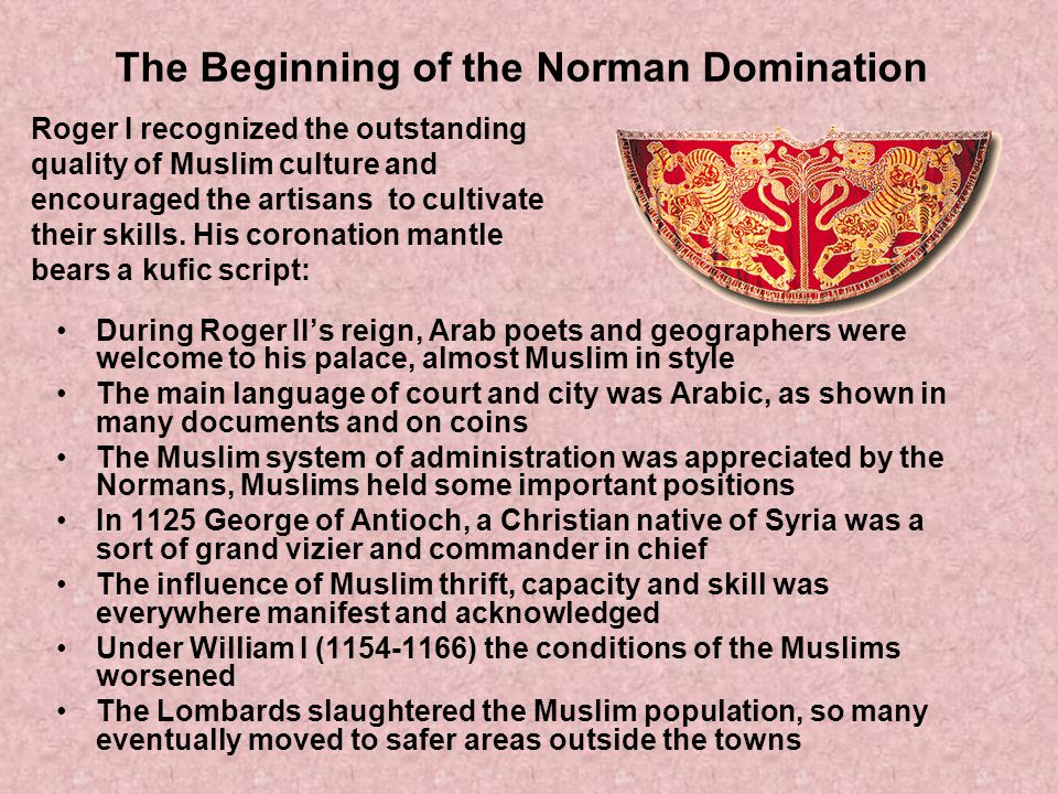 The Beginning of the Norman Domination