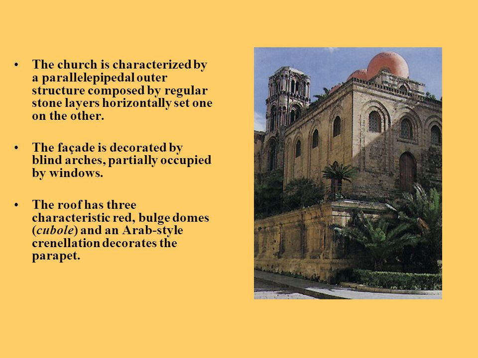 The church is characterized by a parallelepipedal outer structure composed by regular stone layers horizontally set one on the other.