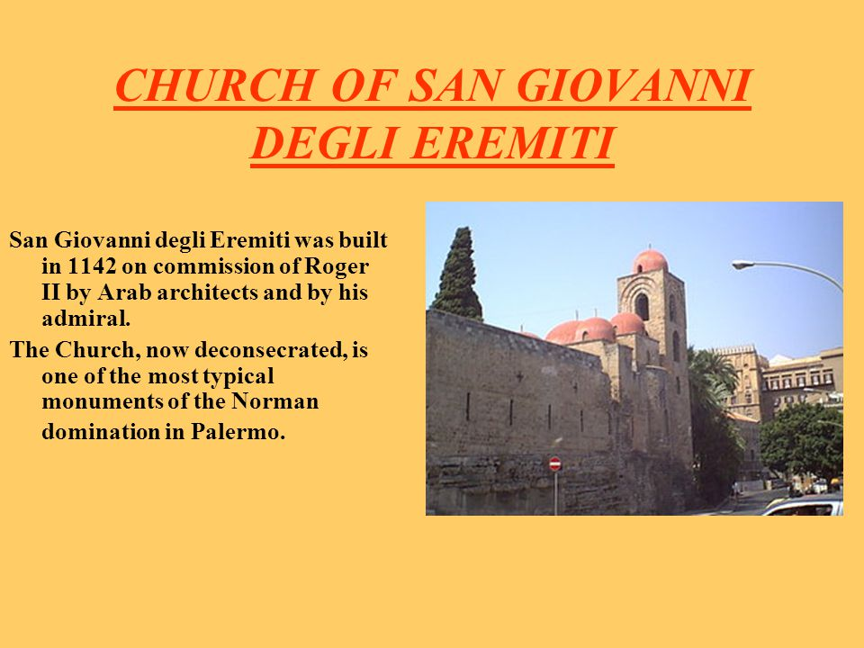 CHURCH OF SAN GIOVANNI DEGLI EREMITI