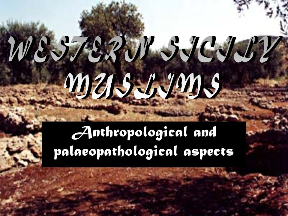 Anthropological and palaeopathological aspects