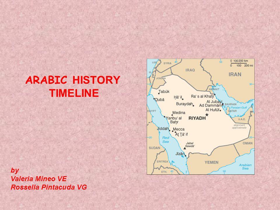 ARABIC HISTORY TIMELINE