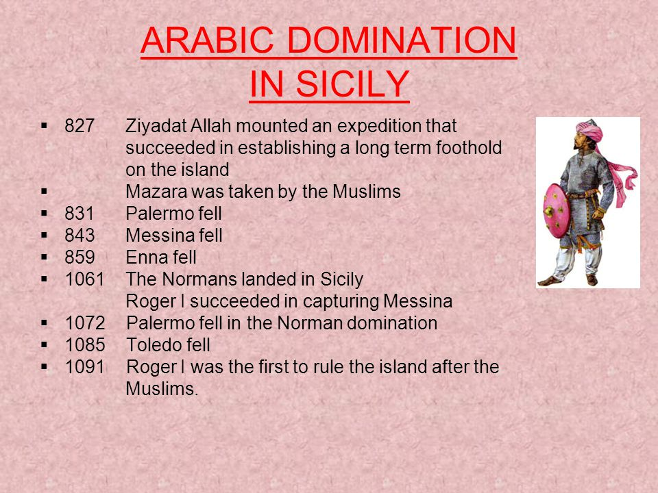 ARABIC DOMINATION IN SICILY