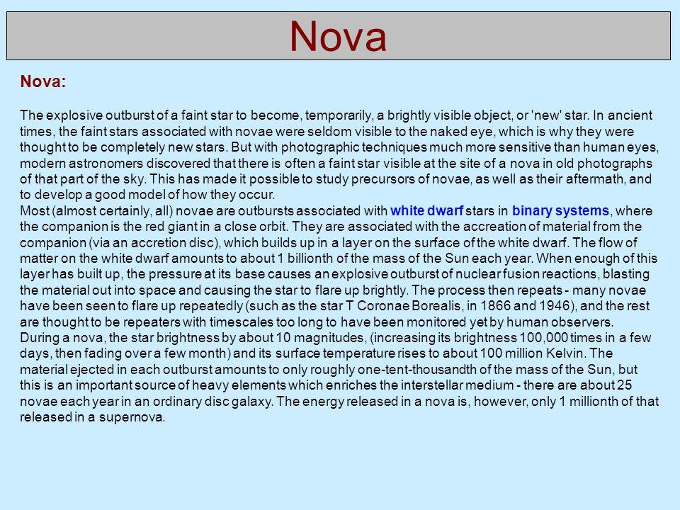 Nova Nova:
