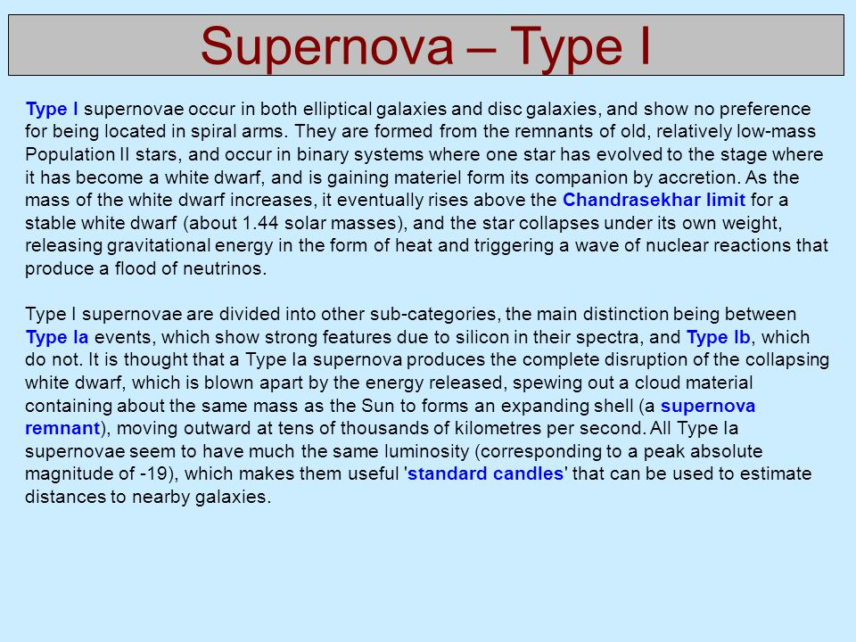 Supernova – Type I