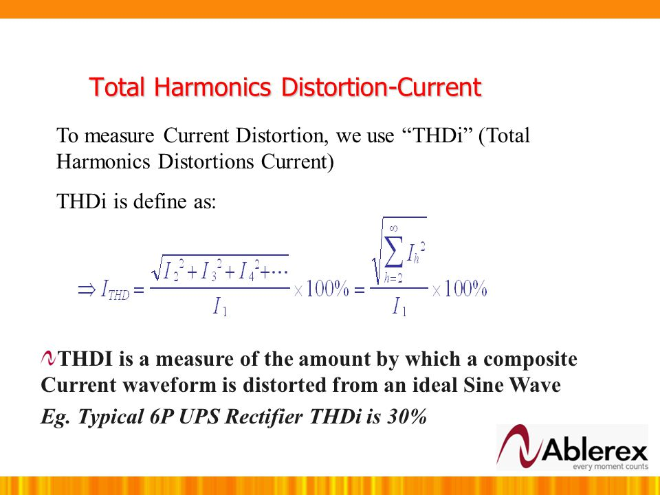 Total Harmonics Distortion-Current