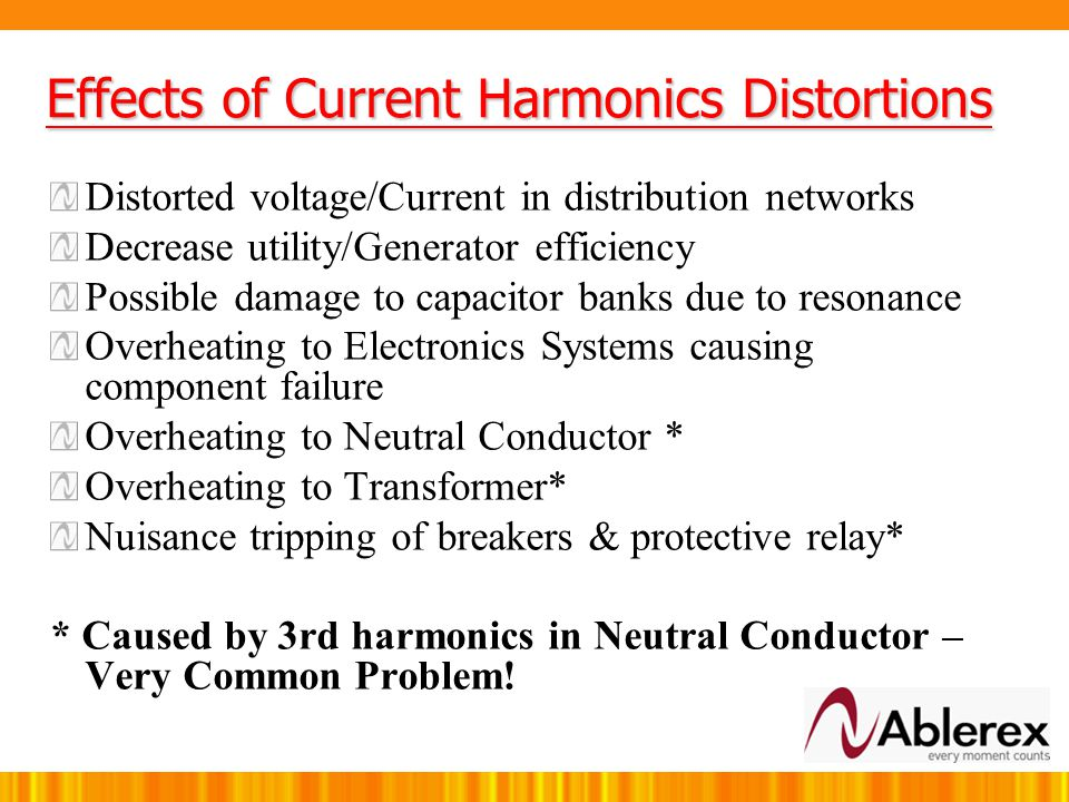 Effects of Current Harmonics Distortions