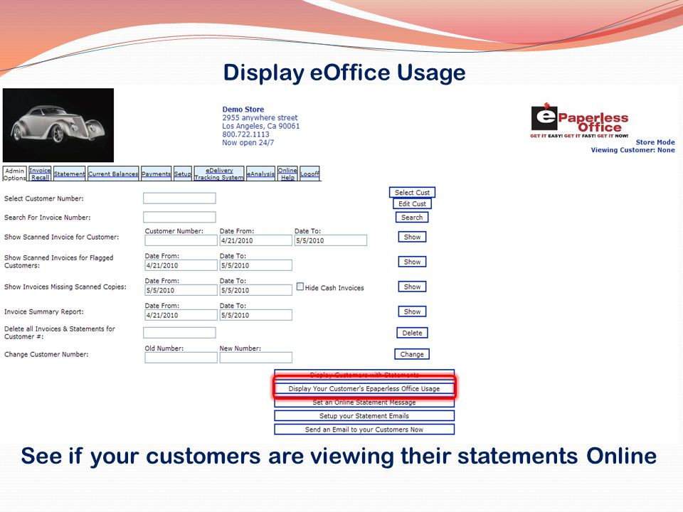 See if your customers are viewing their statements Online