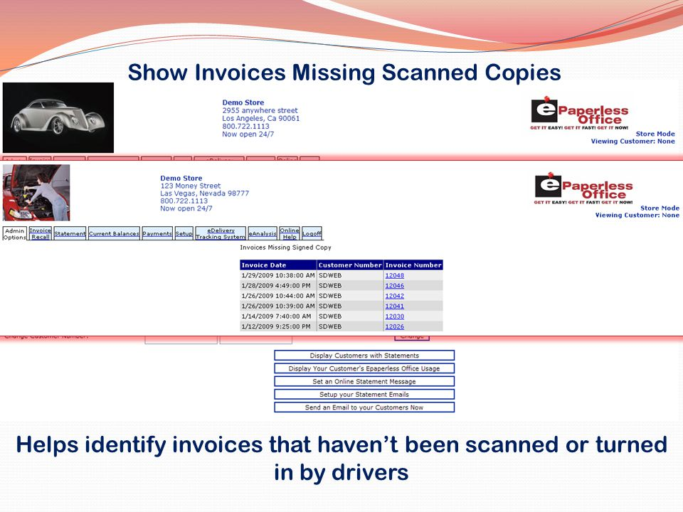 Show Invoices Missing Scanned Copies
