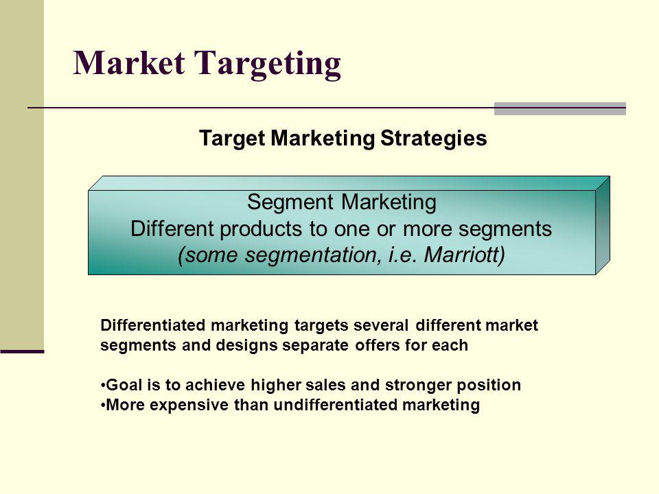 Market Targeting Target Marketing Strategies Segment Marketing