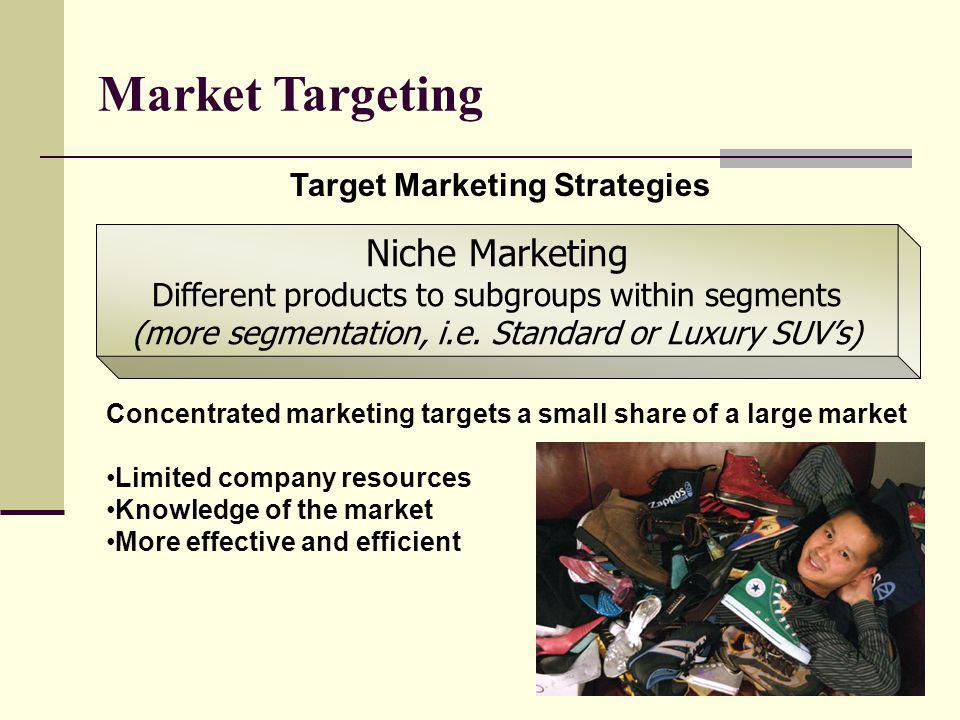 Market Targeting Niche Marketing