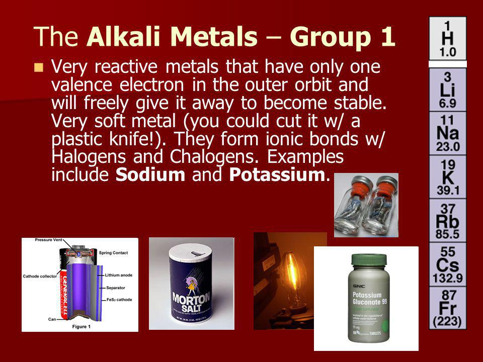 The Alkali Metals – Group 1