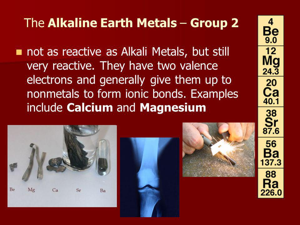 The Alkaline Earth Metals – Group 2