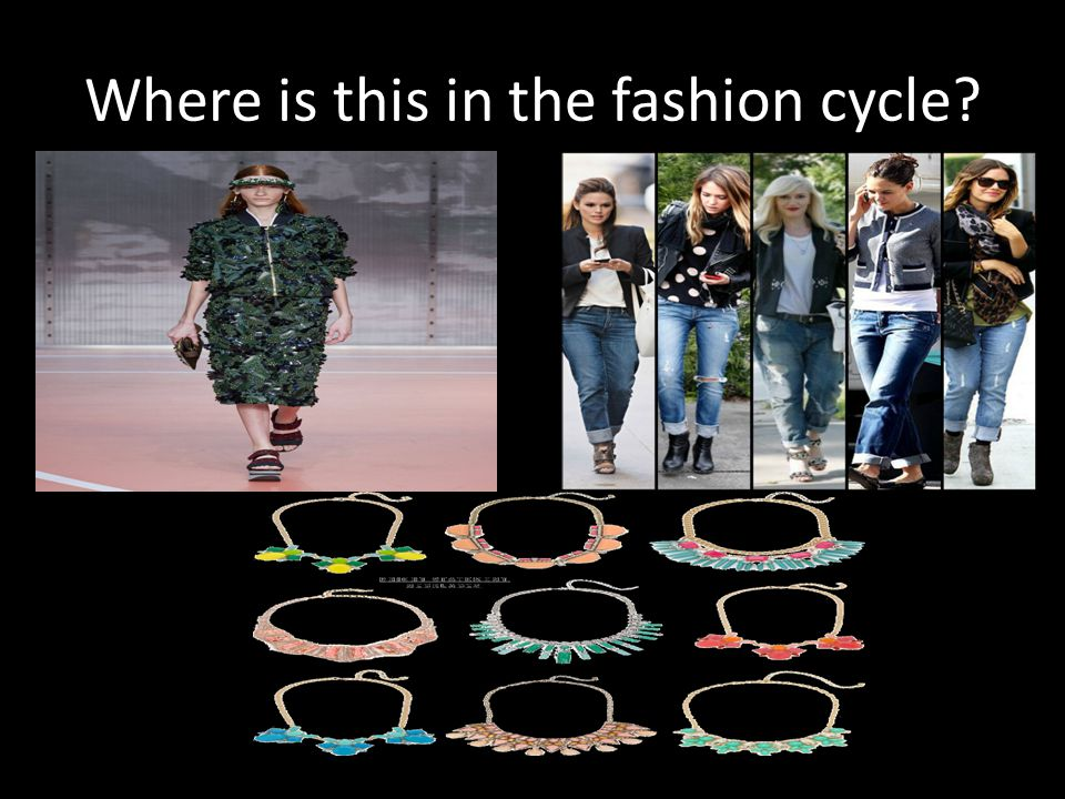Where is this in the fashion cycle