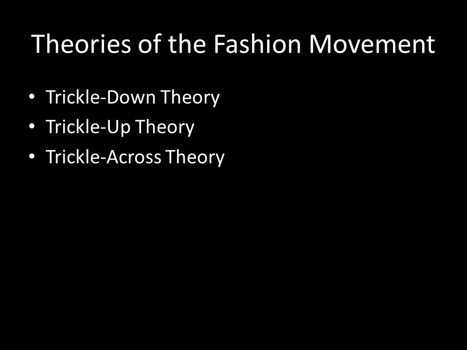 Theories of the Fashion Movement