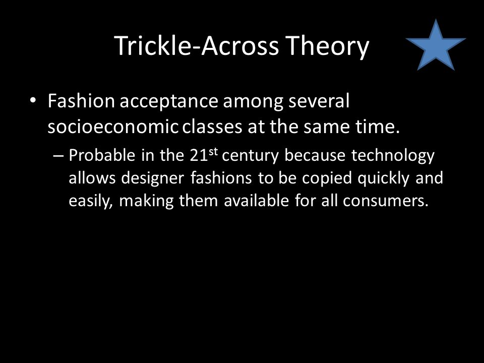 Trickle-Across Theory