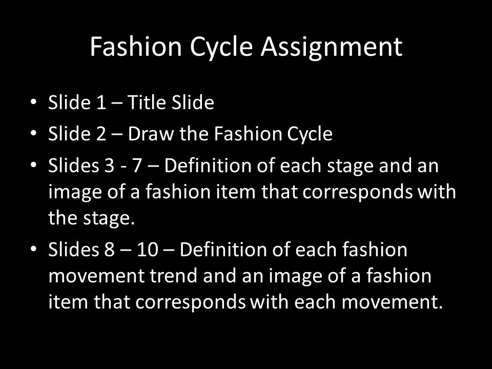 Fashion Cycle Assignment