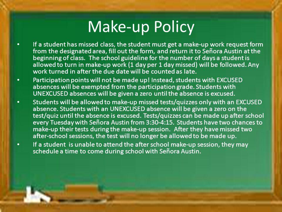 Make-up Policy
