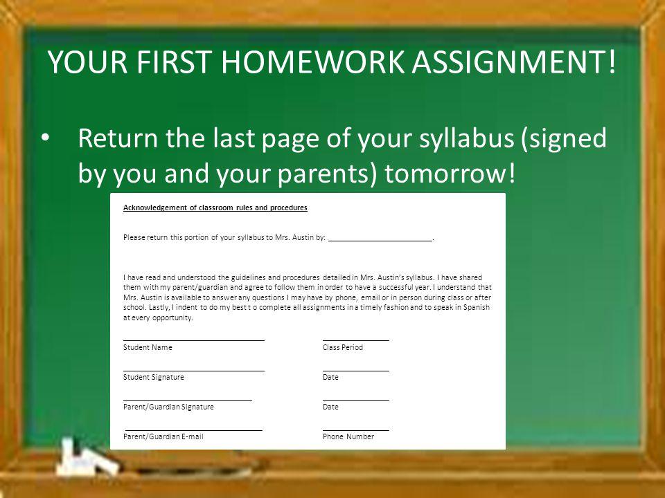 YOUR FIRST HOMEWORK ASSIGNMENT!