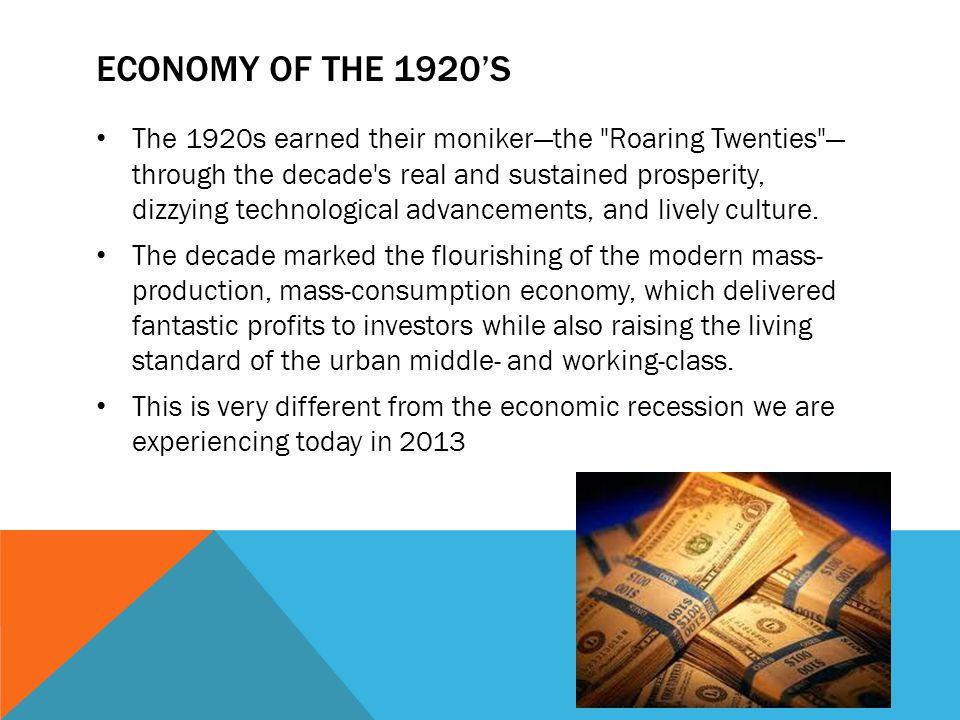 Economy of the 1920's