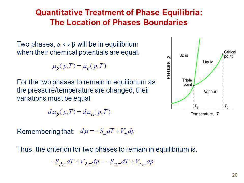 Quantitative Treatment of Phase Equilibria: