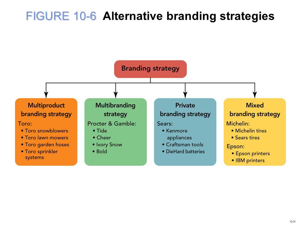 FIGURE 10-6 Alternative branding strategies
