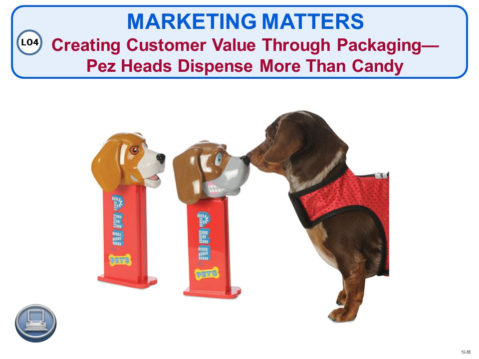 MARKETING MATTERS Creating Customer Value Through Packaging— Pez Heads Dispense More Than Candy