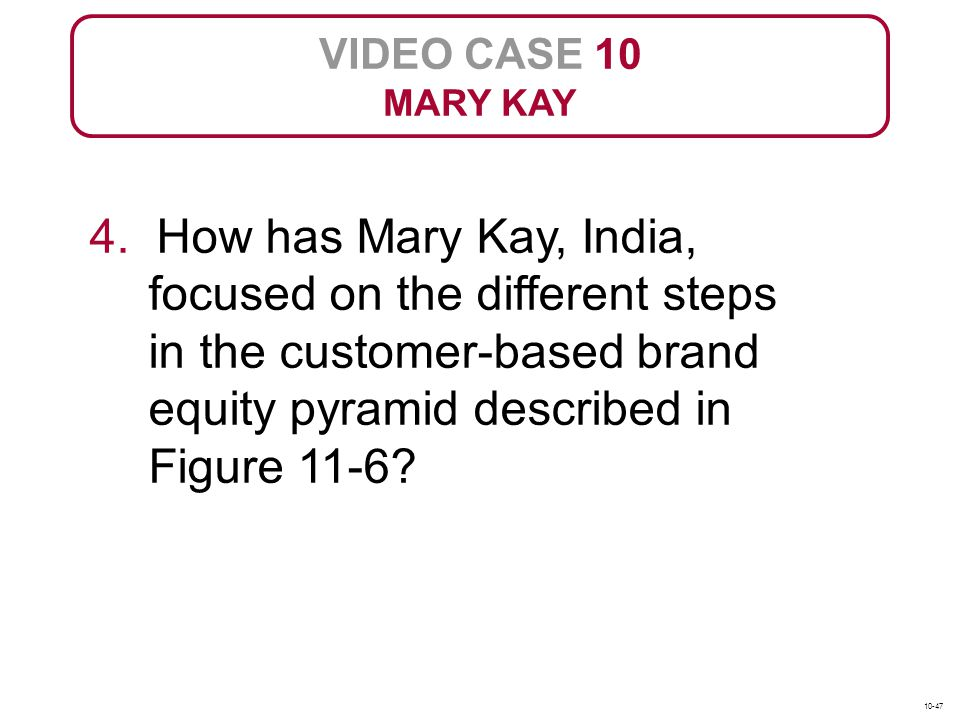 mary kay written positioning statement In spite of the fact that avon is carrying out their business  lakme but the main competitors of avon is mary kay across  marketing mix positioning of.
