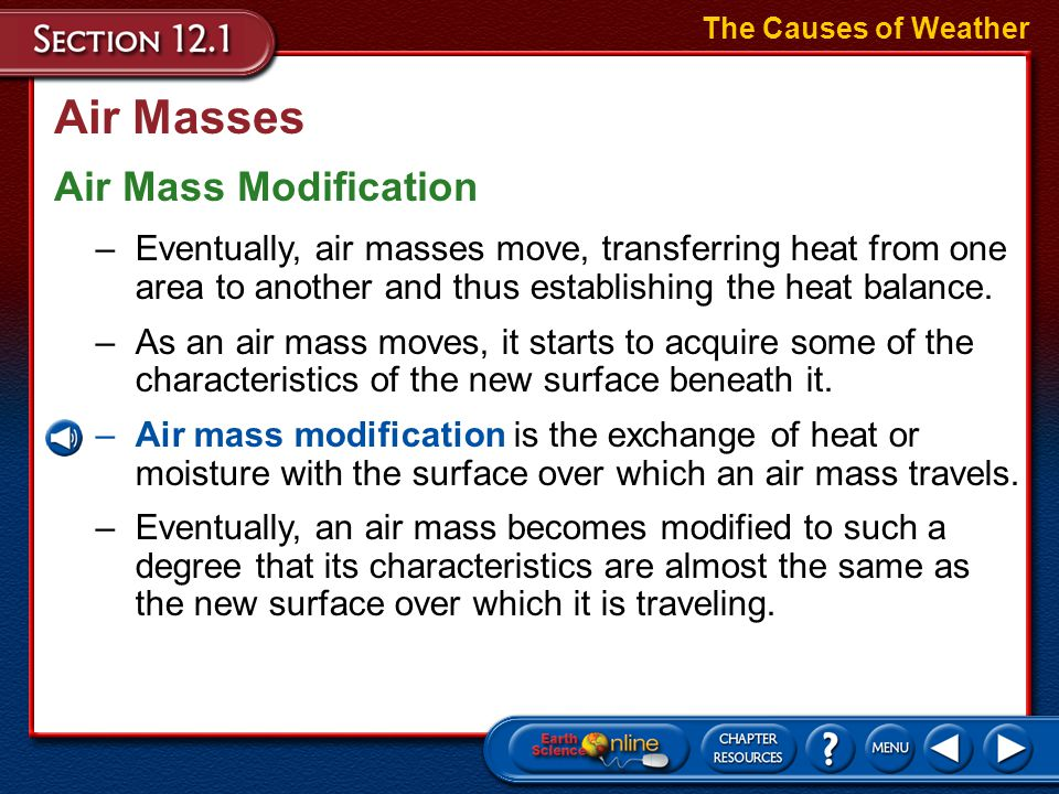 Air Masses Air Mass Modification