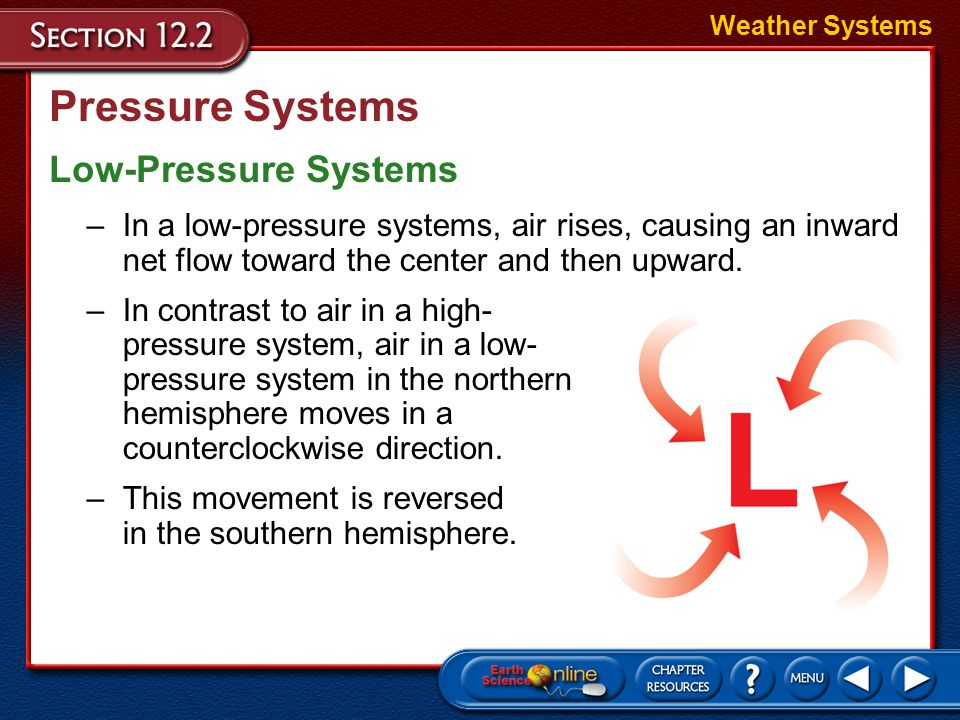 Pressure Systems Low-Pressure Systems