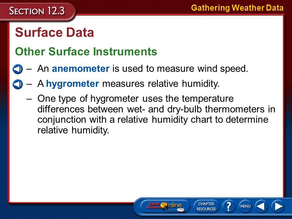 Surface Data Other Surface Instruments