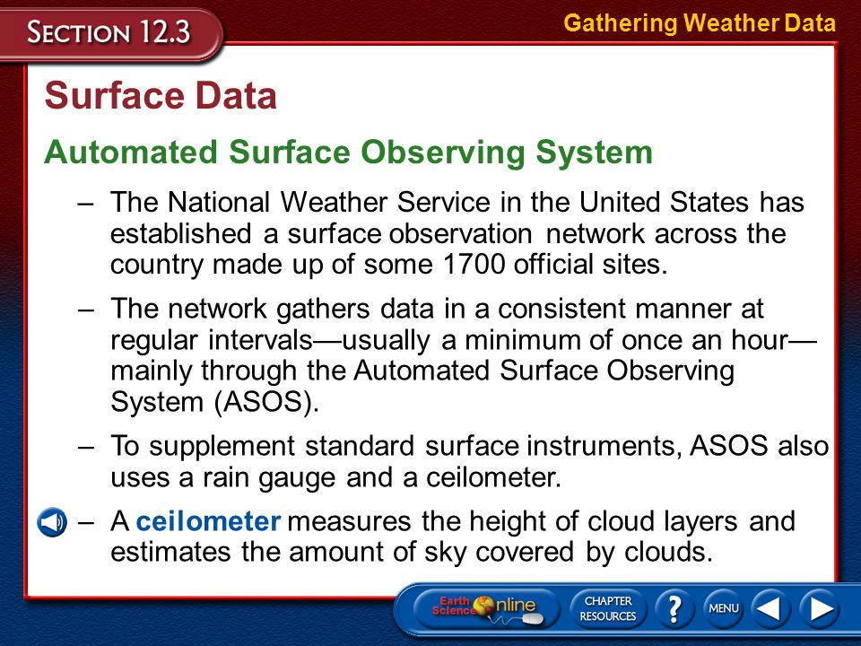 Surface Data Automated Surface Observing System