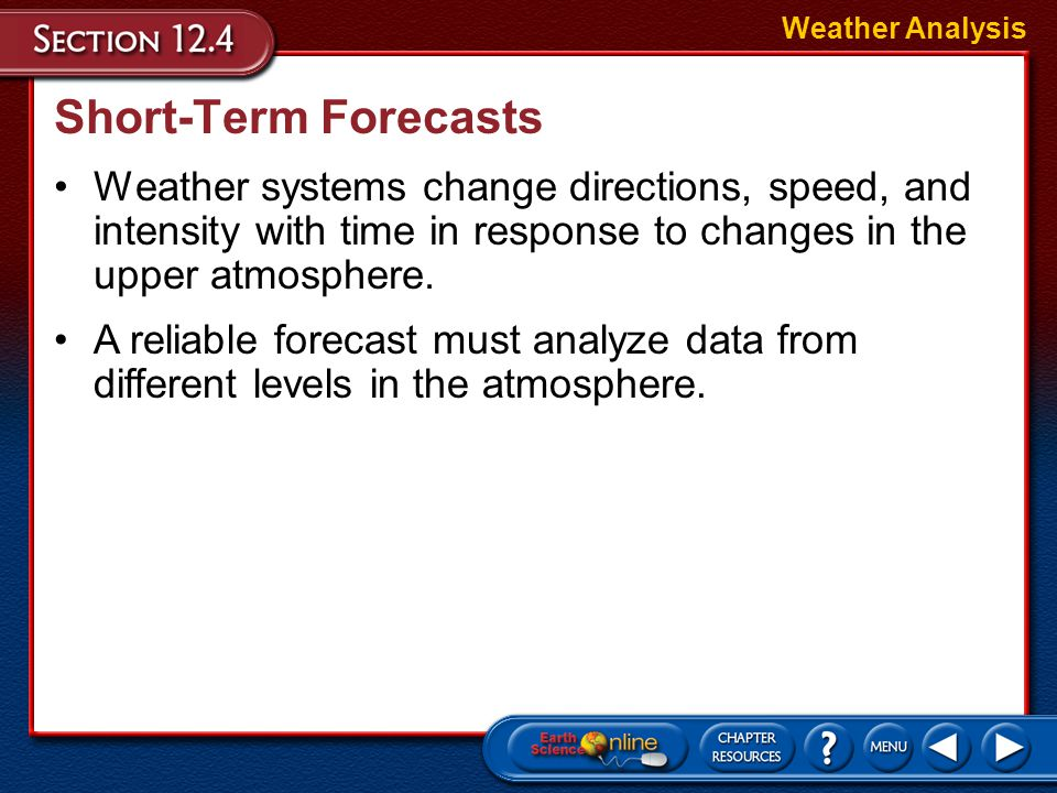 Weather Analysis Short-Term Forecasts.
